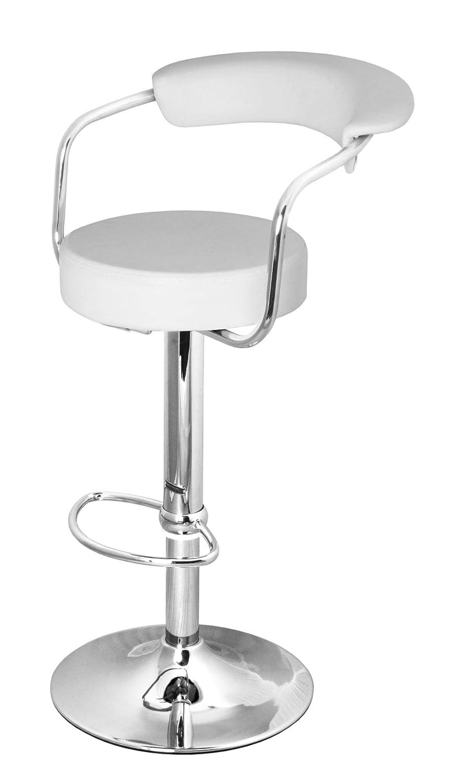 DF Sales Lamboro Zenith bar Stool, White Zenith Bar Stool - White