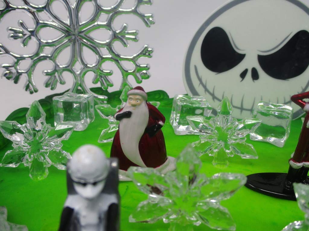 Nightmare Before Christmas Winter Wonderland Themed Birthday Cake Topper Set with Jack Skellington and Decorative Themed Accessories by Cake Topper (Image #6)