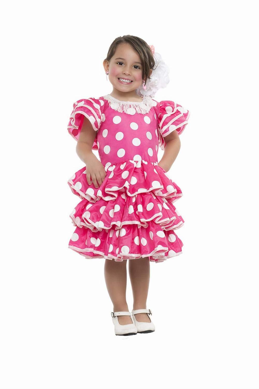 Disfraz de Flamenca fucsia con lunares para niña: Amazon.es ...