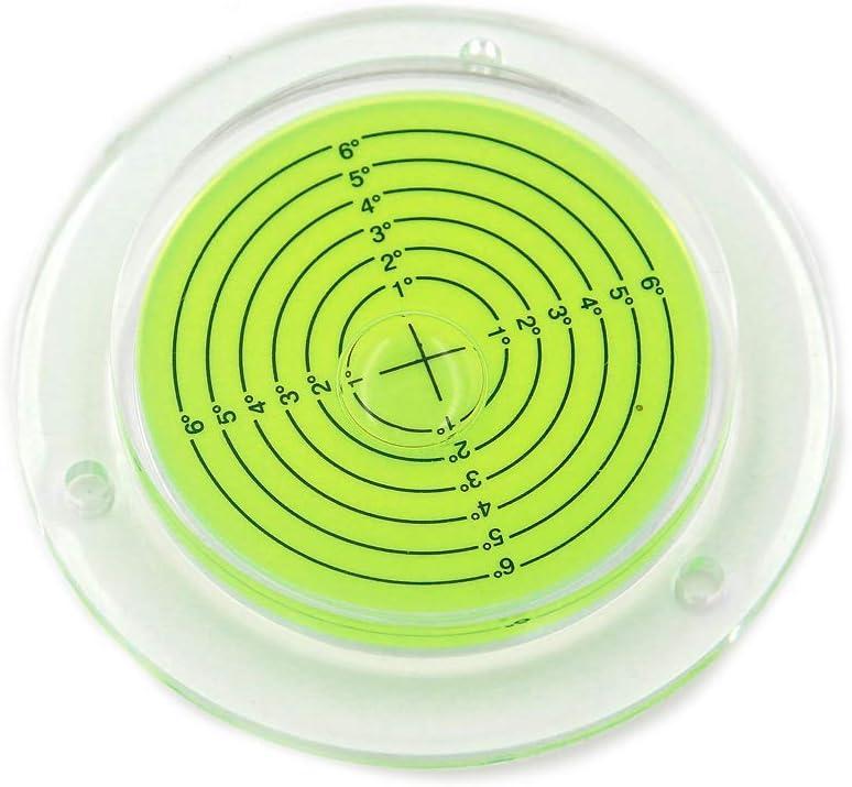 Chiloskit - Nivel de burbuja circular redondo de 100 mm de diámetro, con agujeros de montaje para trípode RV