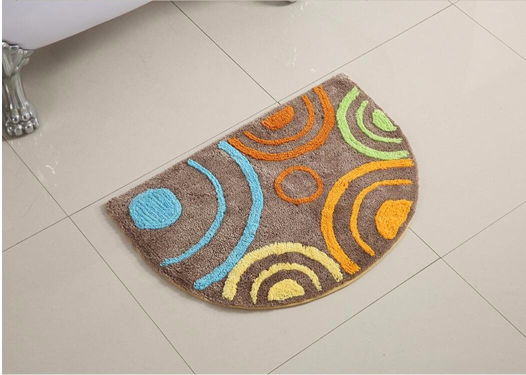Semi water-absorbing mats door mats bathroom mats kitchen rugs bedroom bathroom mats -5070cm