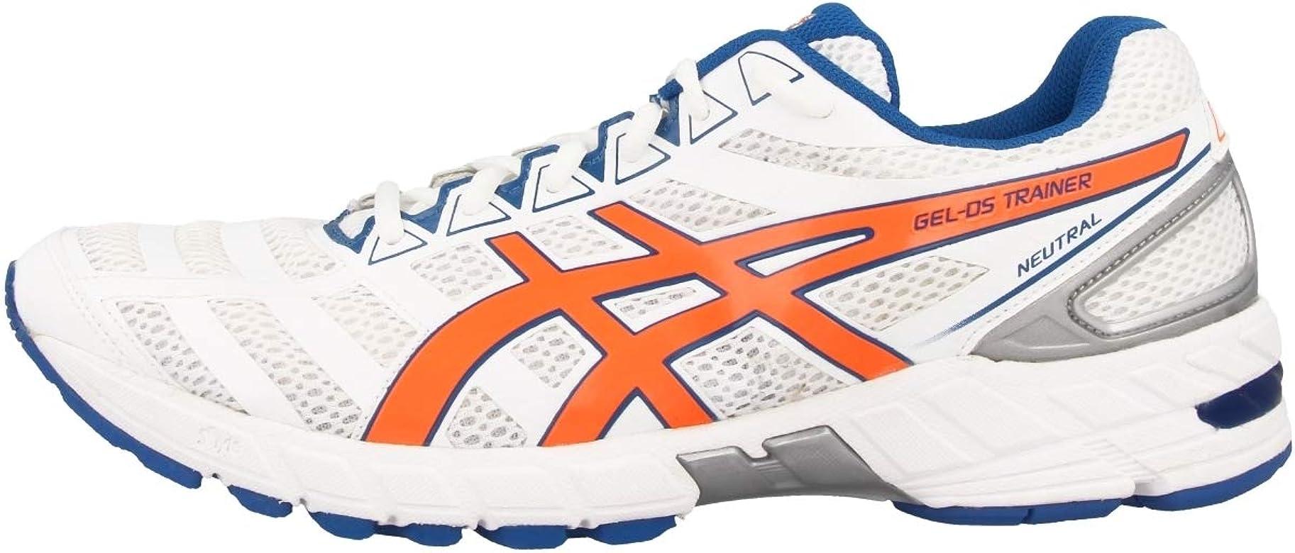 ASICS Gel-DS Trainer 18 Zapatilla de Running Neutra Caballero, Blanco/Azul/Naranja, 46: ASICS: Amazon.es: Zapatos y complementos