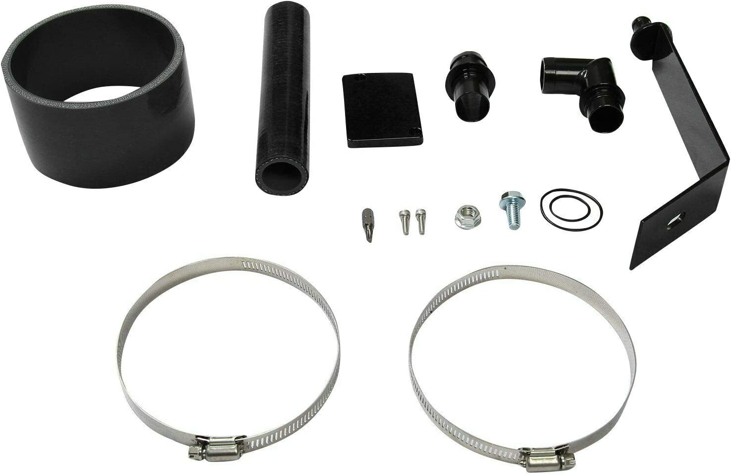 JIUAUTOPARTS Cold Air Intake Kit Black Fit for 2003-2007 Ford F-250//350 6.0L Powerstroke Diesel