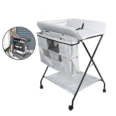Portable Baby Changing Station Table Infant Bath Newborn Nappy Nursery 4 Wheels