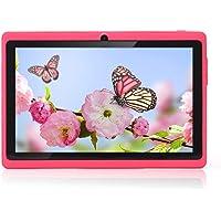 "Haehne 7"" Tablet PC, Google Android 4.4 Quad Core, 512MB RAM 8GB ROM, Cámaras Duales, WiFi, Bluetooth, para Niños y Adultos, Rosado"