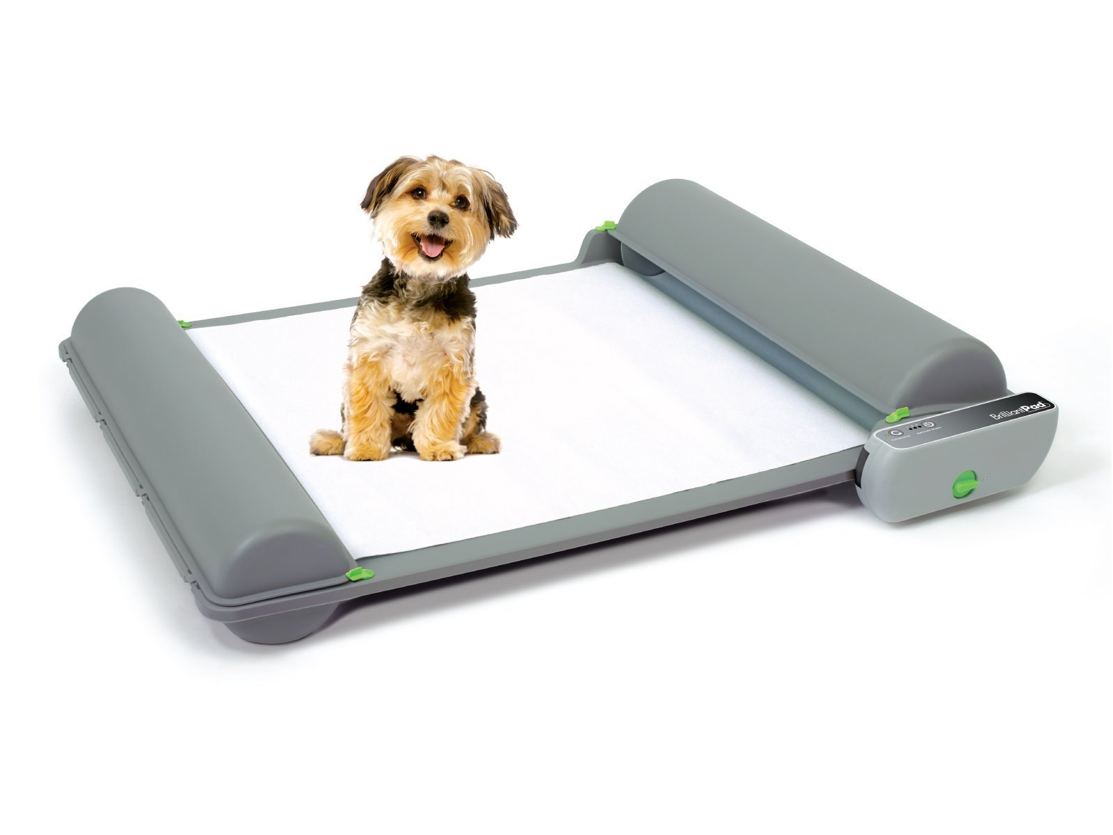 BrilliantPad Self-Cleaning, Automatic Indoor Dog Potty (MACHINE + 1 ROLL) by BrilliantPad