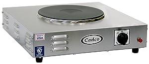 Cadco LKR-220 Countertop Heavy Duty Cast Iron 220-Volt Hot Plate