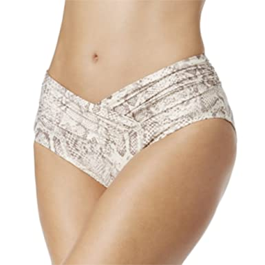336b439cd0 Amazon.com: Carmen Marc Womens VALVO Metallic Crossover High-Waist Bikini  Bottoms Swimsuit Ivory Size Small: Clothing