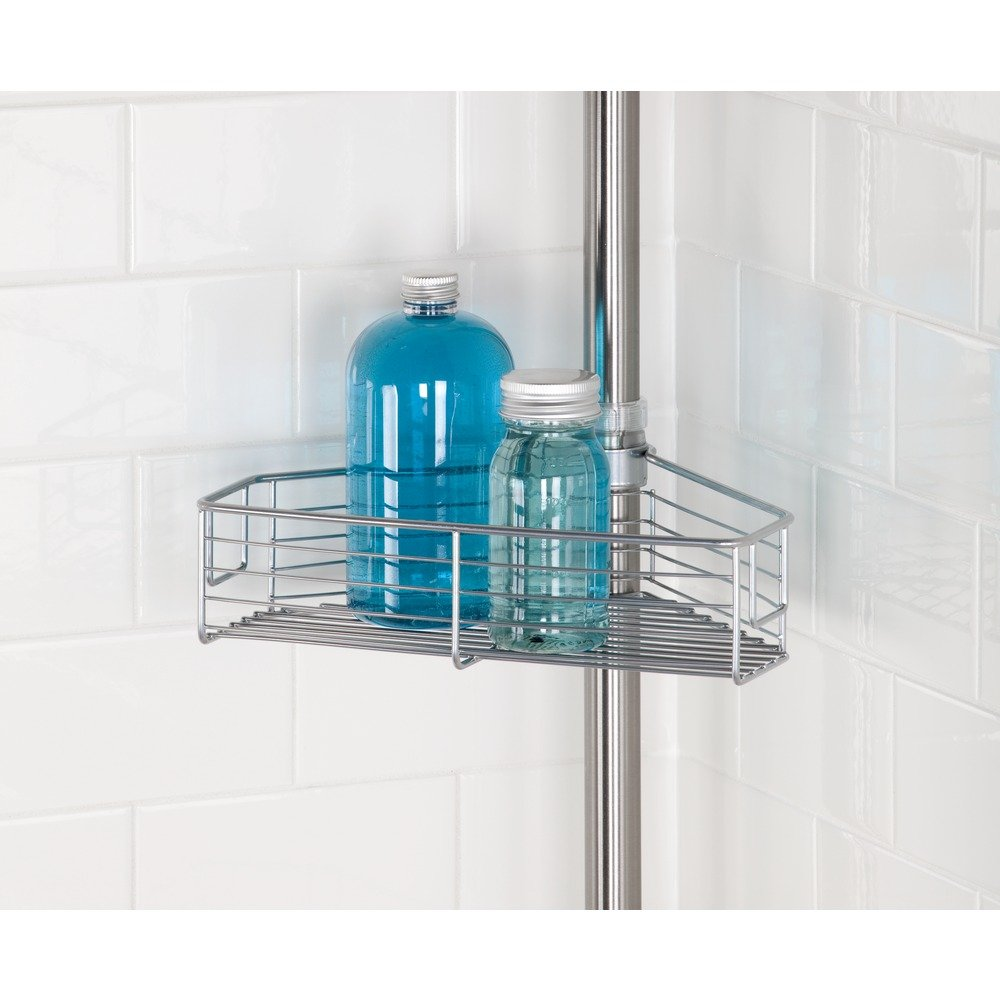 Amazon.com: InterDesign Forma Standing Shower Caddy Corner Station ...