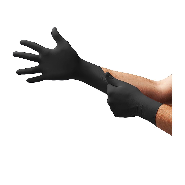 Ansell Microflex 93-852 Mehrzweckhandschuhe, Chemikalien- und Flü ssigkeitsschutz, Schwarz, Grö ß e 5.5-6 (100 Handschuhe pro Spender) Ansell Microflex 93-852 / 5.5-6