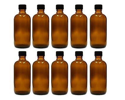 Gota botellas botellas de cristal (Juego de 10 piezas con tropfei nsatz de cristal marrón