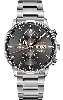 Mido Commander II Gray Dial Steel Mens Swiss Automatic Watch M0164141106100