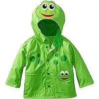 FEOYA Impermeable Chubasquero para Niños niñas Ropa Chaqueta de Lluvia con Capucha Animal bebés - verde - talla 1 2 3 4…