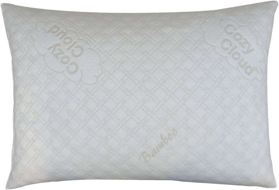 CozyCloud Deluxe Hypoallergenic Bamboo Shredded Memory Foam Pillow - Queen Size Softer