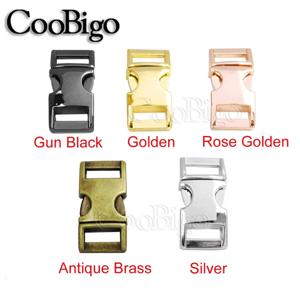 20 Pack 3//8 Mixed Color Metal Side Release Buckles for Paracord Bracelets