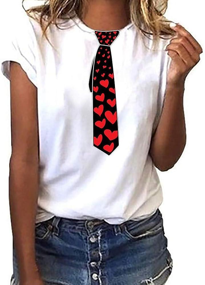 Camisetas para Mujer, Camisas Casual Blusa de Manga Corta de ...