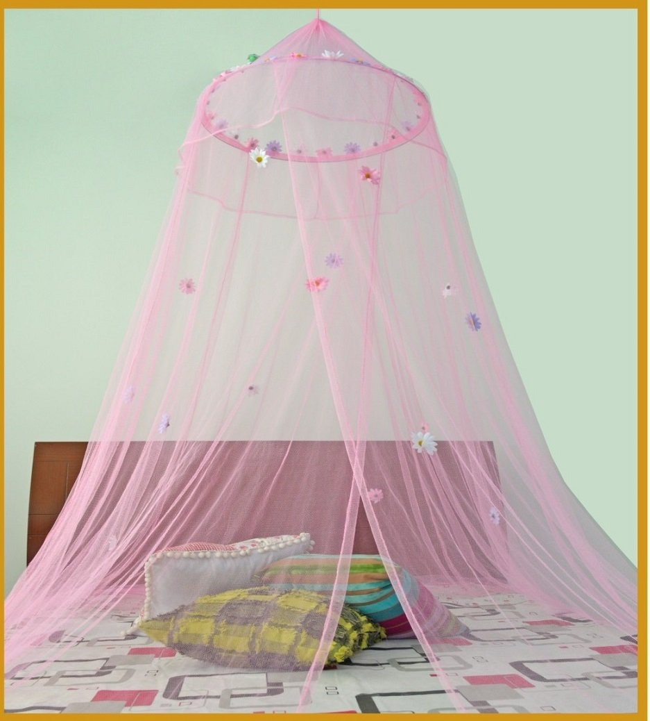 Amazon.com Pink with Daisies Canopy Mosquito net for Crib twin full Queen King and Cal king size Home u0026 Kitchen  sc 1 st  Amazon.com & Amazon.com: Pink with Daisies Canopy Mosquito net for Crib twin ...