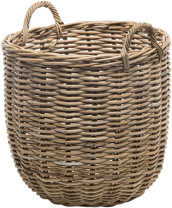 Kouboo Rattan Kobo Round Storage Basket Gray Amazon Co Uk Kitchen Home
