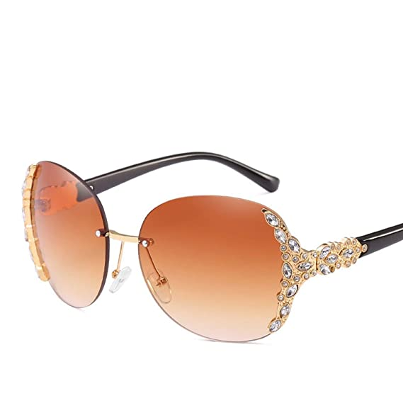 Amazon.com: Rimless Sunglasses Hipster Ladies Sun Glasses ...
