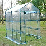 Outsunny 5′ x 5′ x 6′ Portable Walk In Garden Steeple Greenhouse For Sale
