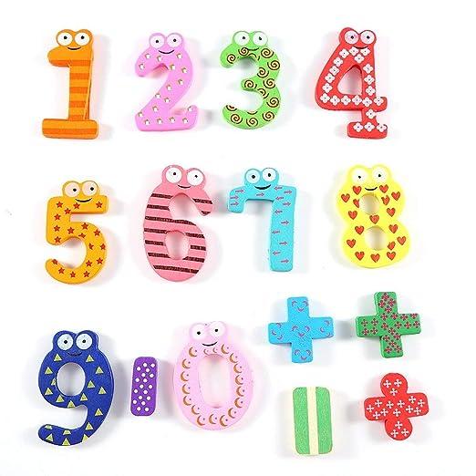 15 unidades de imanes para nevera, números magnéticos coloridos ...