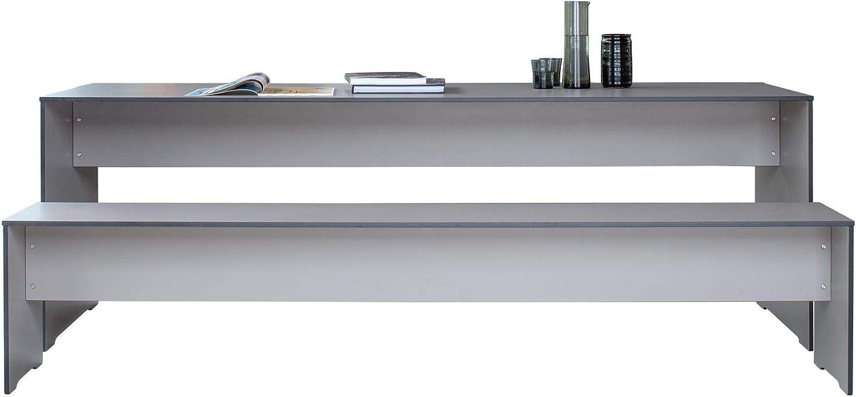 anthrazit ohne Auflage Laminat 1x Bank 216x35x44cm 1x Tisch 220x70x72cm 1 Bank Conmoto Riva Set 220 Tisch