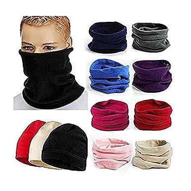 bonnet 3 en 1 echarpe tour de cou NOIR polaire homme femme enfant ski peche  moto 4adf97243d3