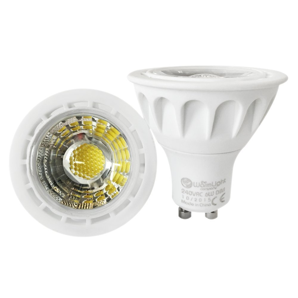 4 X Premium GU10 6W Dimmable LED Spotlight COB Light Bulb Lamp Colour Blue