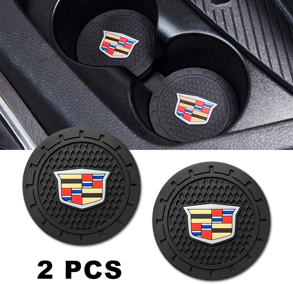 Brandless Car Interior Accessories for GMC Cup Holder Insert Coaster Silicone Anti Slip Cup Mat for GMC Terrain Acadia Yukon Canyon Sierra Savana Set of 2, 2.75 Diameter