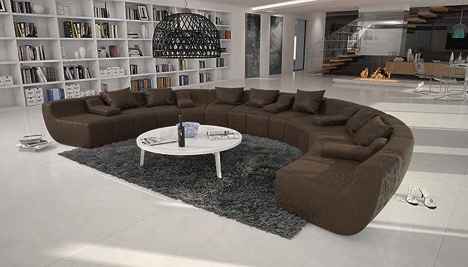 Cm u form terassi u moderne sofa garnitur xxl mit kunstleder polster couch für wohnzimmer schwarz 400cm x 265cm amazon de küche haushalt