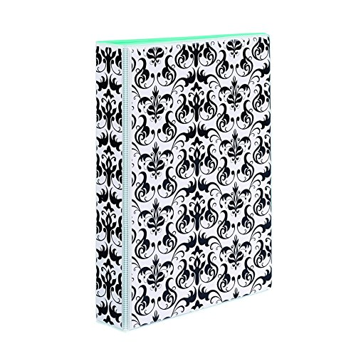 Avery 5-1/2 x 8-1/2 Inches Mini Durable Style Binder with 1-Inch Round Rings, Chandelier Damask (18445)