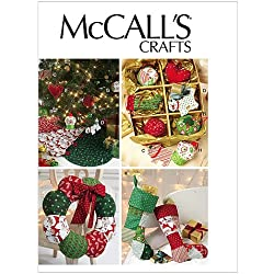 McCall Patterns M6453 Ornaments, Wreath, Tree Skirt and Stocking, One Size Only