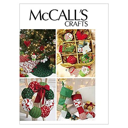 Amazon McCall Patterns M60 Ornaments Wreath Tree Skirt And Simple Mccalls Craft Patterns