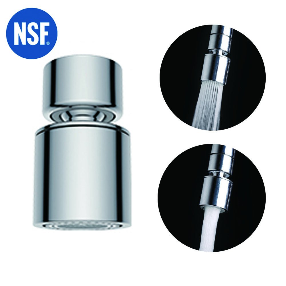 Waternymph NSF Certified Dual-function 2-Flow Kitchen Sink Aerator ...