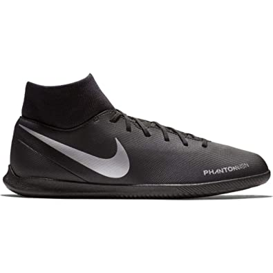 new product 5d491 826e0 Nike Men's Phantom Vision Club Dynamic Fit Indoor Soccer Shoes  (Black/Silver) (