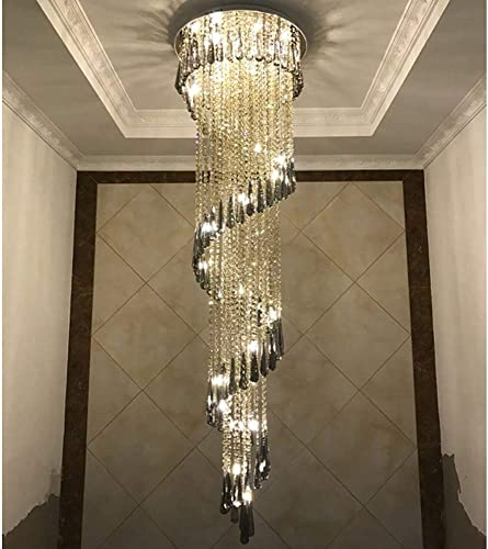 Zichen lighting LED Three Brightness K9 Crystal Chrome Mirror Stainless Steel Ceiling Lights Fixture Lamps Chandeliers Pendant Lights Lighting