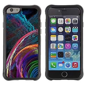 Pulsar Defender Series Tpu silicona Carcasa Funda Case para Apple iPhone 6 Plus(5.5 inches), svet cvet spiral uzor fraktal