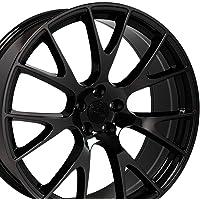 OE Wheels 22 Inch Fits Chrysler Aspen Dodge Dakota Durango Ram 1500 Hellcat Style DG69 Black Chrome 22x10 Rim