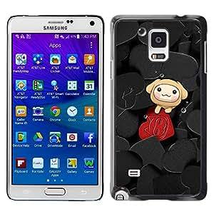 Smartphone Rígido Protección única Imagen Carcasa Funda Tapa Skin Case Para Samsung Galaxy Note 4 SM-N910F SM-N910K SM-N910C SM-N910W8 SM-N910U SM-N910 Cute Hearts / STRONG
