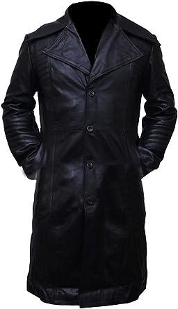 Charlie Black Men/'s Smart Designer 1 Button Real Lambskin Leather Blazer Jacket