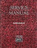1992-1993 Subaru SVX Repair Shop Manual Supplement Original