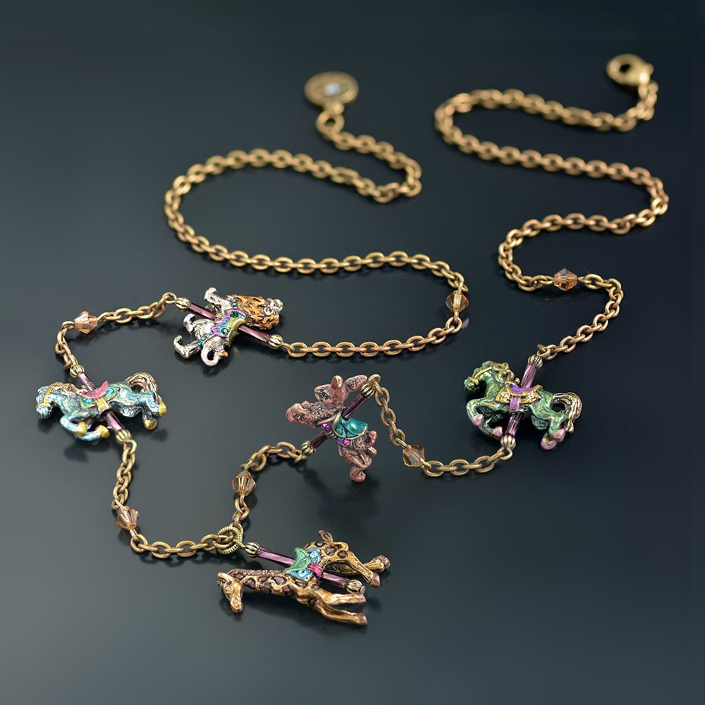 Carousel Animals Charm Necklace