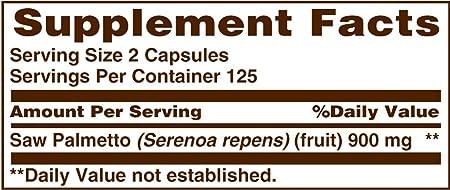 Sundown Naturals Saw Palmetto, 450 mg, 250 Capsules Pack of 2