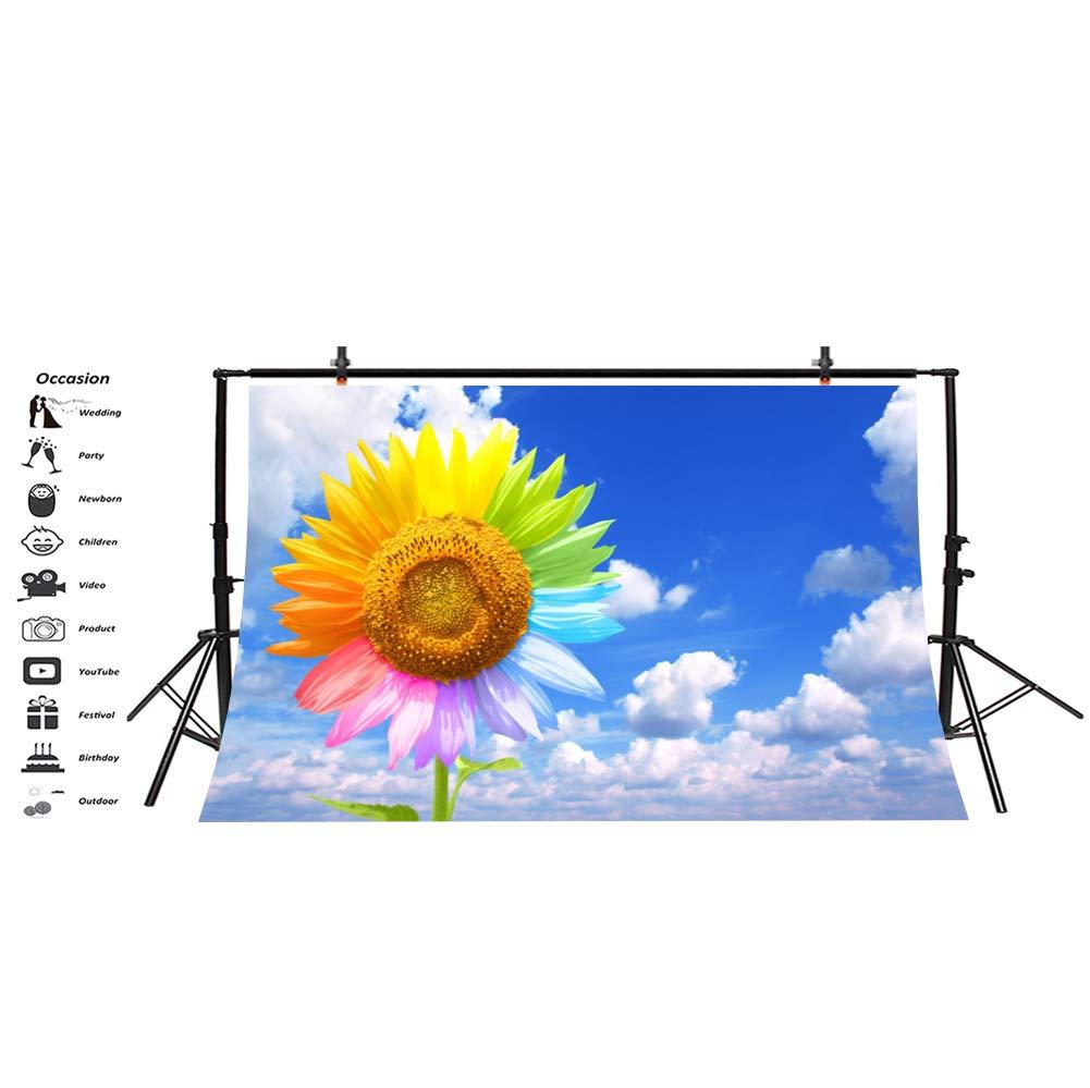 YongFoto 2,5x2,5m Vinilo Fondo de Fotografia Dibujos Animados Cielo Azul Nube Blanca Tel/ón de Fondo Fiesta Ni/ños Boby Boda Adulto Retrato Personal Estudio Fotogr/áfico Accesorios