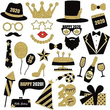 Amosfun Nouvel an Les Accessoires Photo 2020 Bonne année