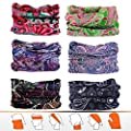 Headwear, Bandana, Neck gaiter, Head wrap, headband for Men and Women, Multifunctional Head Scarf, Face Mask, Balaclava, Magic Scarf, Sweatband for Fishing, Yoga, Running, Motorcycling (6pcs/9pcs)