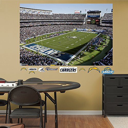 San Diego Chargers Football Field: NFL San Diego Chargers Qualcomm Stadium Mural Big Wall