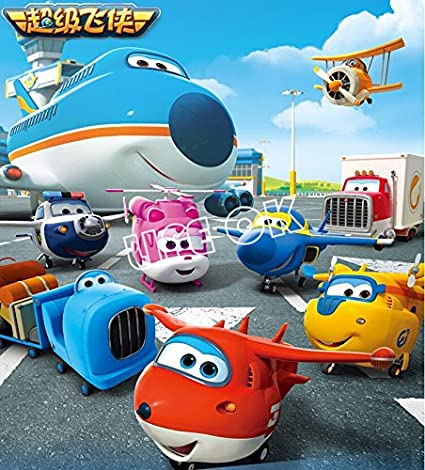 Amazon.com: New 4pcs/set Super Wings Deformation Mini Airplane ABS Robot toy Action Figures Super Wing Transformation toys for children gift: Toys & Games