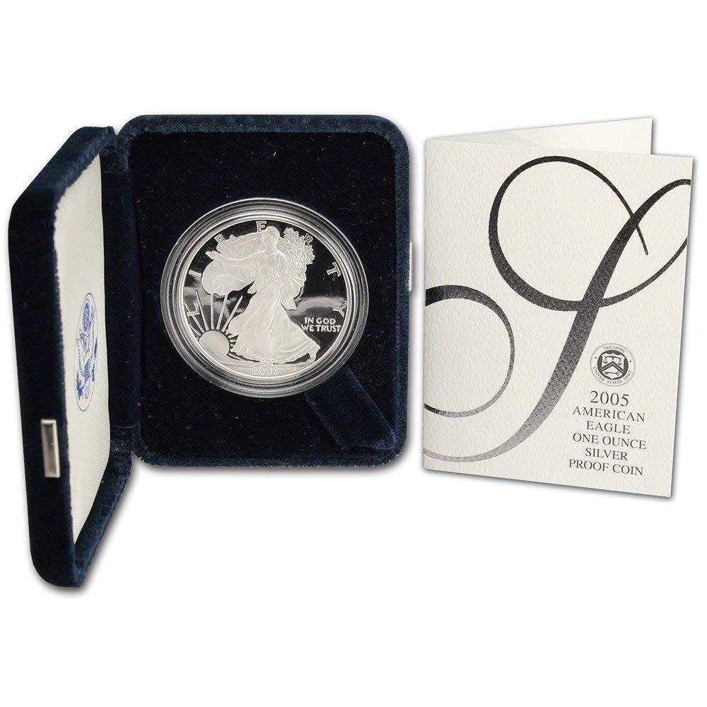 2005-W Proof $1 American Silver Eagle Box OGP /& COA