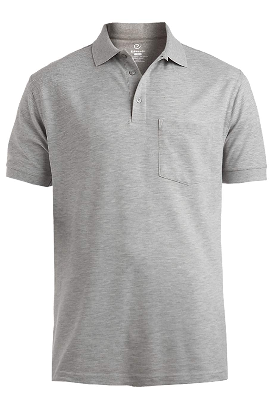 Edwards Blended Pique Short Sleeve Polo with Pocket
